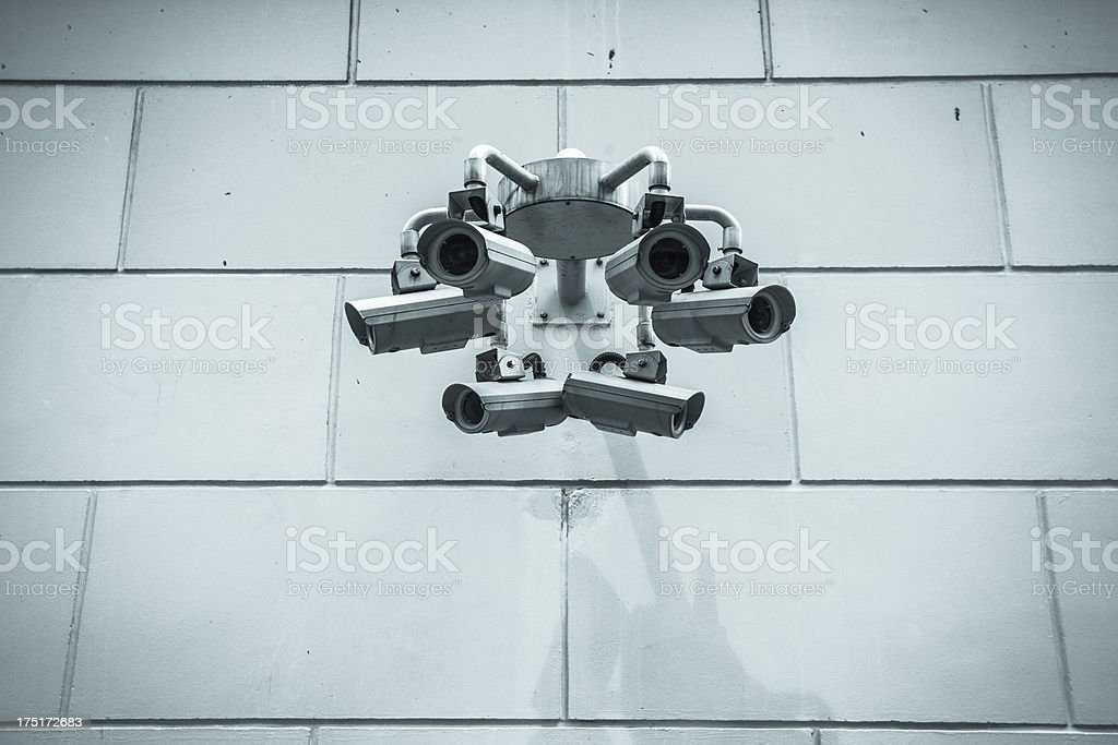 Group of CCTV Security Camera, Big Brother royalty-free stock photo