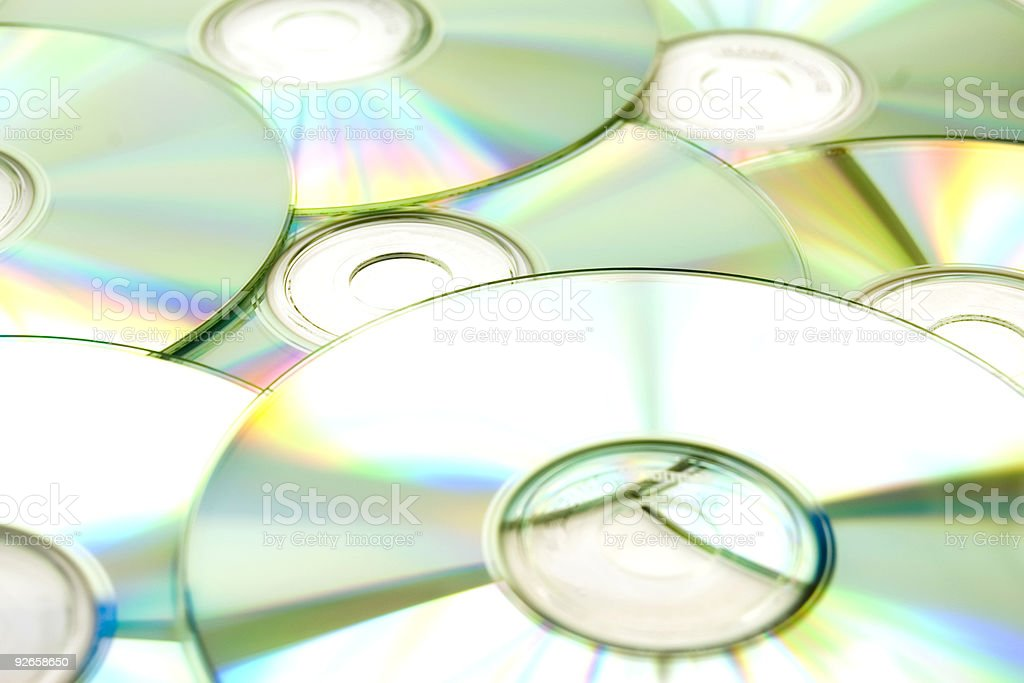 Group of CD's royalty-free stock photo