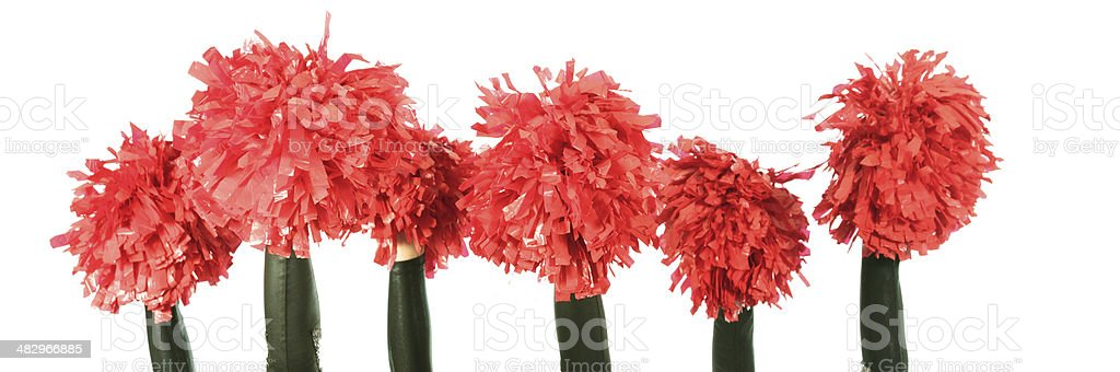 group of cheerleaders stock photo