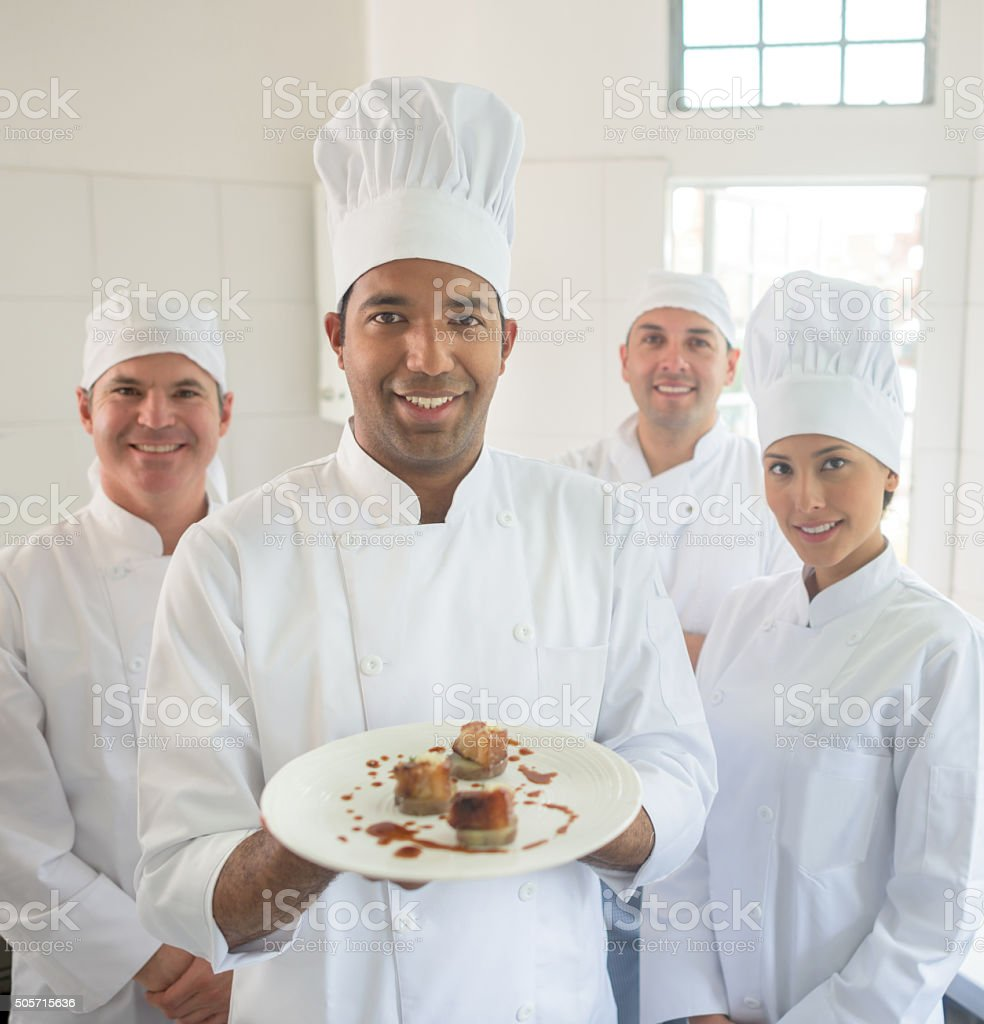 Group Of Chefs In The Kitchen Stock Photo & More Pictures of Adult ...