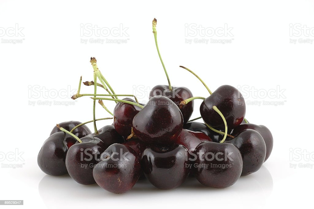 Group of cherries royalty-free stock photo