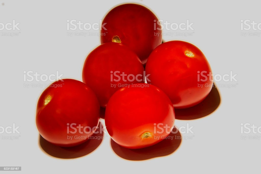 Group of cherry tomatoes stock photo
