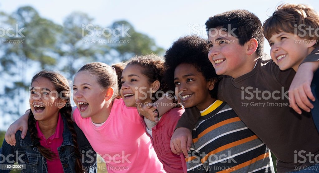 Group of childen stock photo