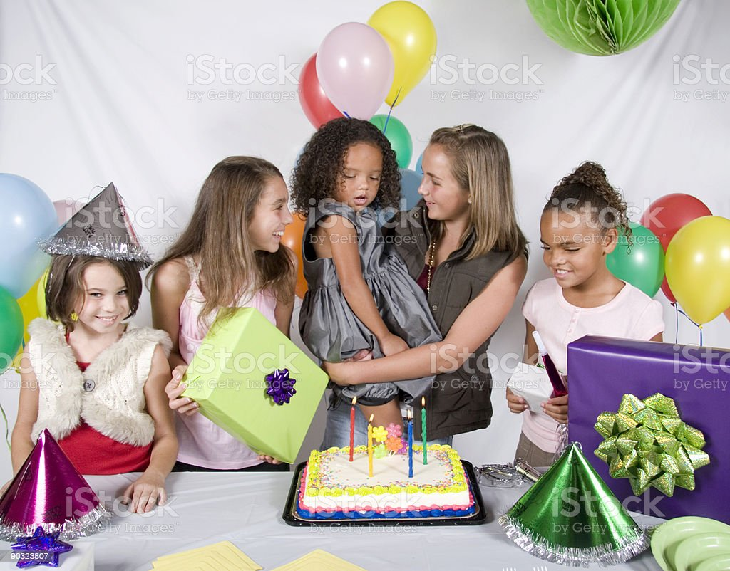 Group of Children at Birthday Party royalty-free stock photo