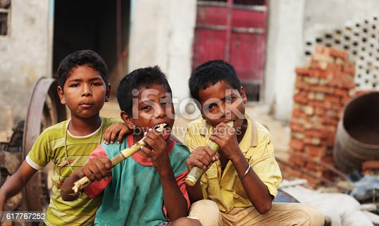 941788480 istock photo Group of children enjoying sugarcane 617767252