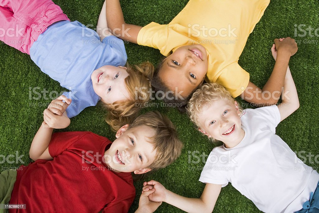Group of children royalty-free stock photo