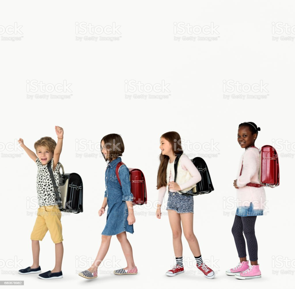 Group of Children Walking Concept stock photo