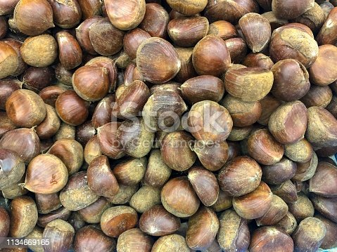 Group of Chinese chestnuts