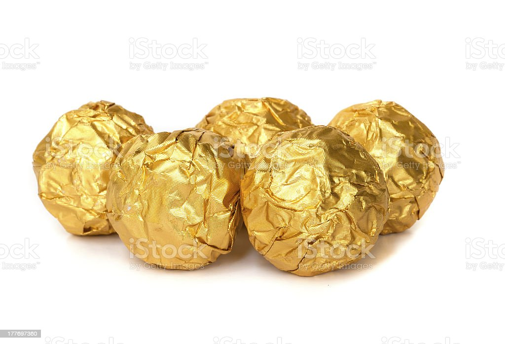 Group of Chocolate balls. royalty-free stock photo