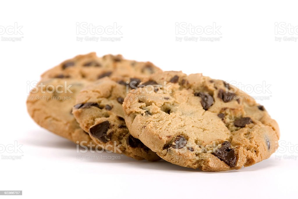 Group of Chocolate Chip Cookies royalty-free stock photo