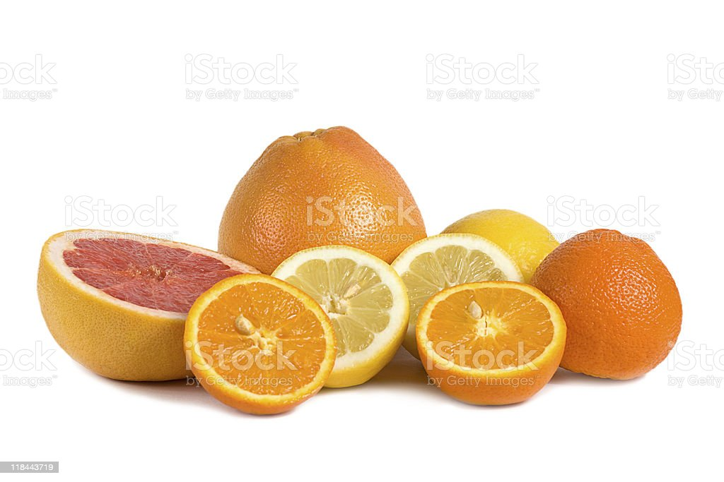 Group of citrus fruits royalty-free stock photo