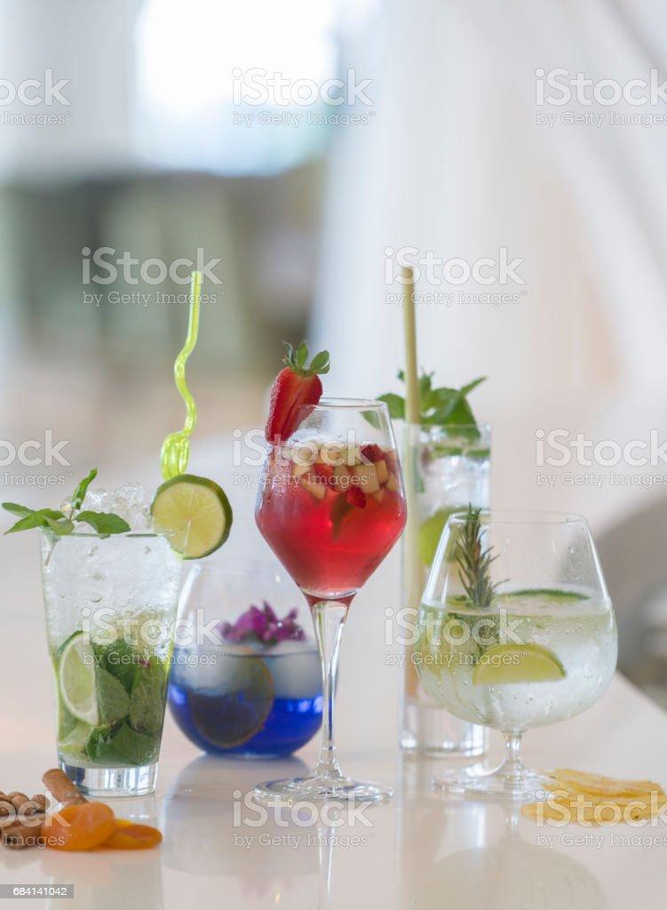 Group of cocktail zbiór zdjęć royalty-free