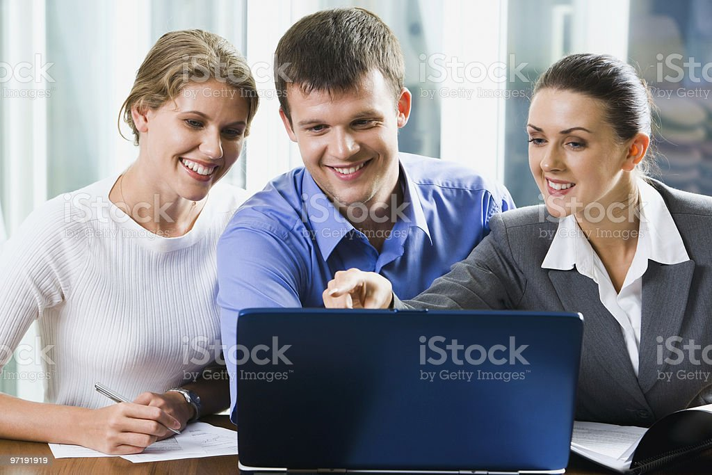 Group of colleagues royalty-free stock photo