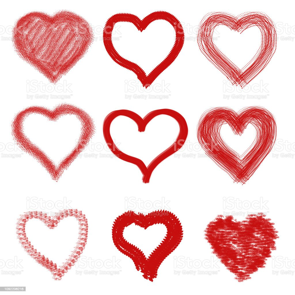 Gruppe von sammeln Herzen schreiben – Foto