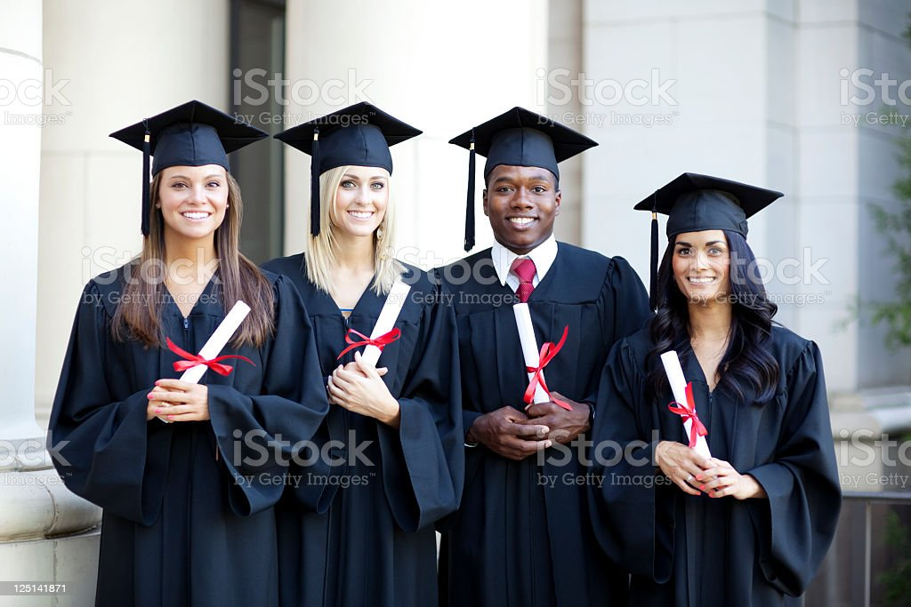 Group of College Graduates royalty-free stock photo