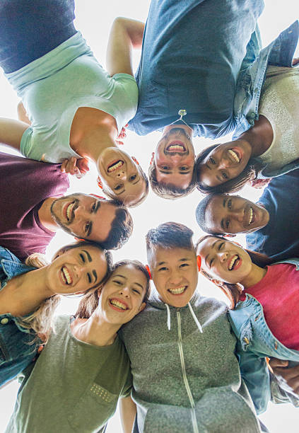 Group of college students stock photo