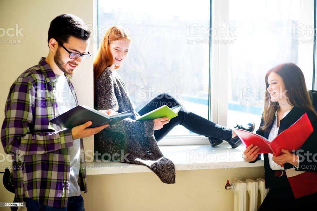 Group of college students Lizenzfreies stock-foto