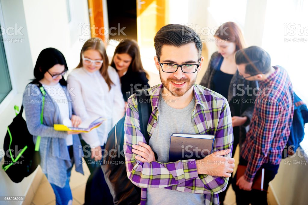 Group of college students royalty-free 스톡 사진