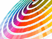 the color card pantone close-up