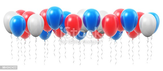 istock Group of color inflatable air balloons 984342422