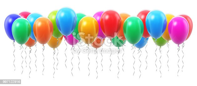 istock Group of color inflatable air balloons 997122916