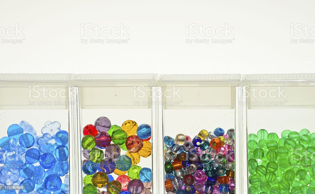 Group of Colored Beads royalty-free stock photo
