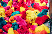 A group of colorful baby chicks\nManila, Philipines