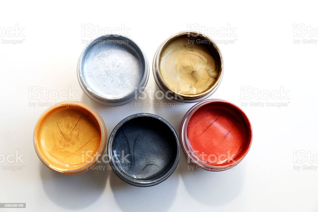 Group of colors in the cans royalty-free stock photo