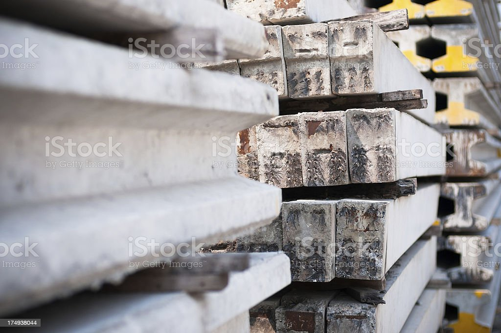 Group of Concrete slab royalty-free stock photo