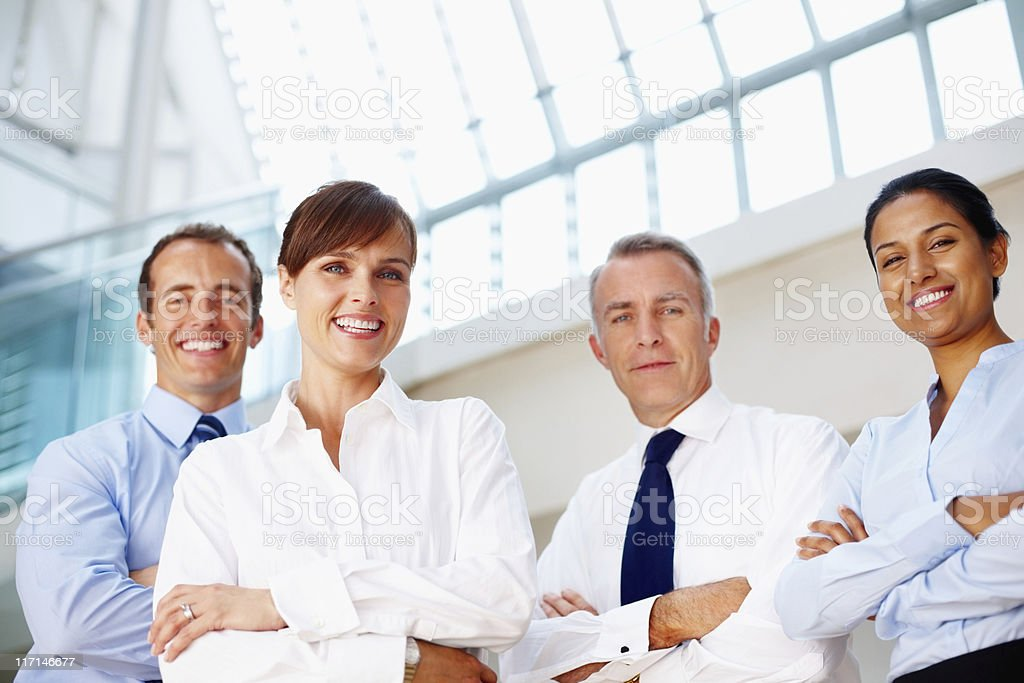 Group of confident, professional businesspeople royalty-free stock photo