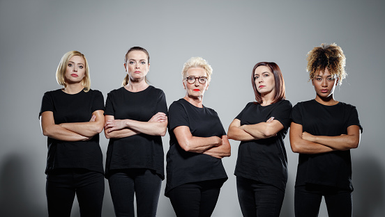 Group Of Confident Women Protesting Stock Photo - Download Image Now