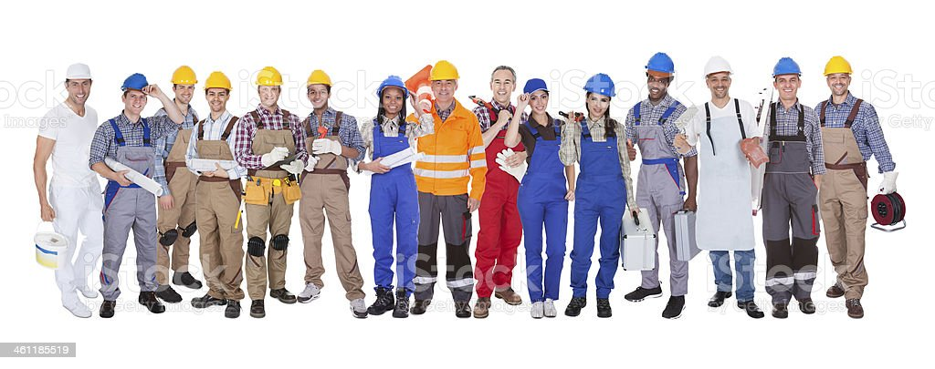 Group Of Construction Workers stock photo