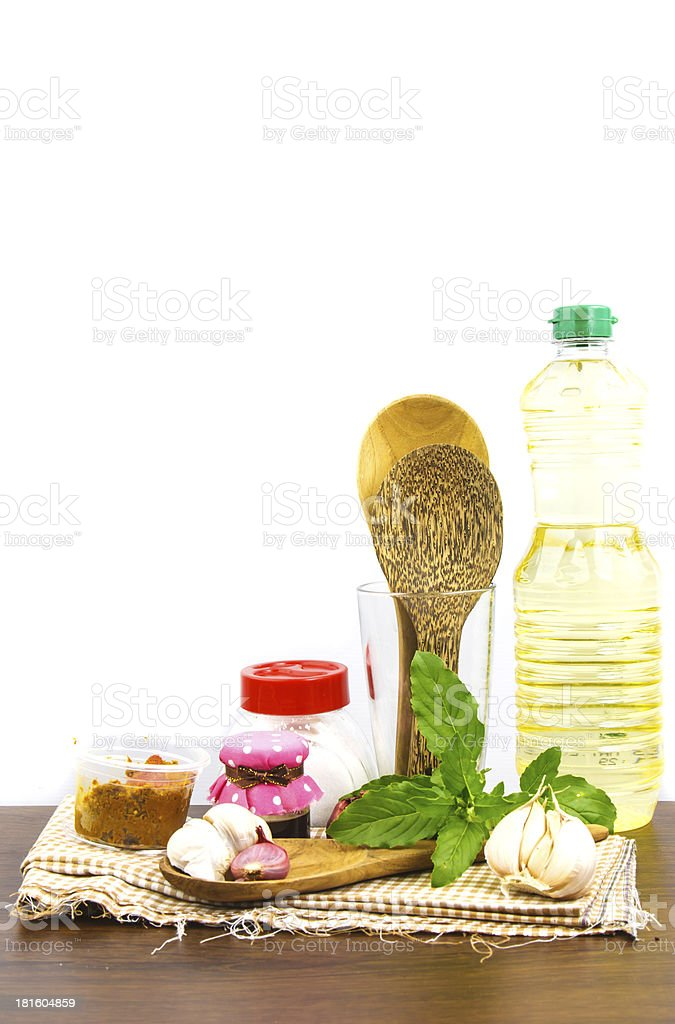 Group of  cooking set against white background royalty-free stock photo