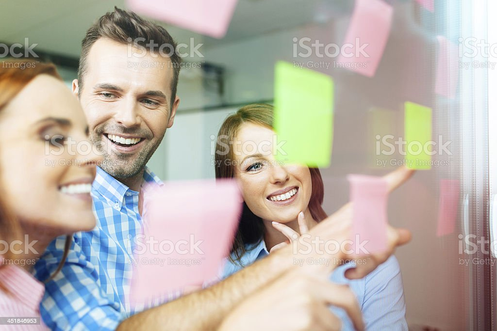 Group of corporate people working on new project stock photo
