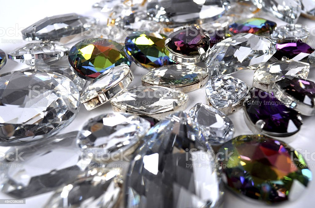 Group of cosmetic gems stock photo