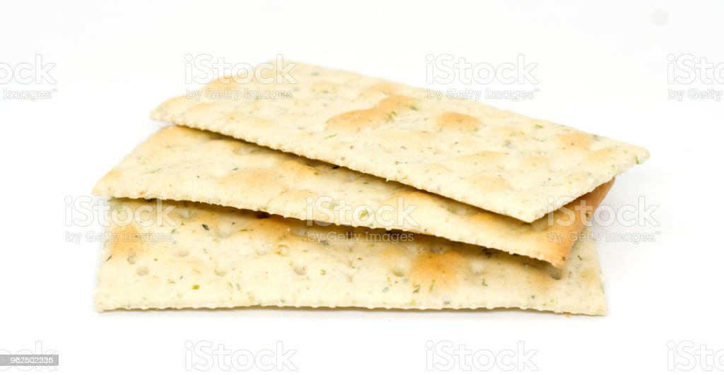 group of crackers isolated on white - Royalty-free Appetizer Stock Photo