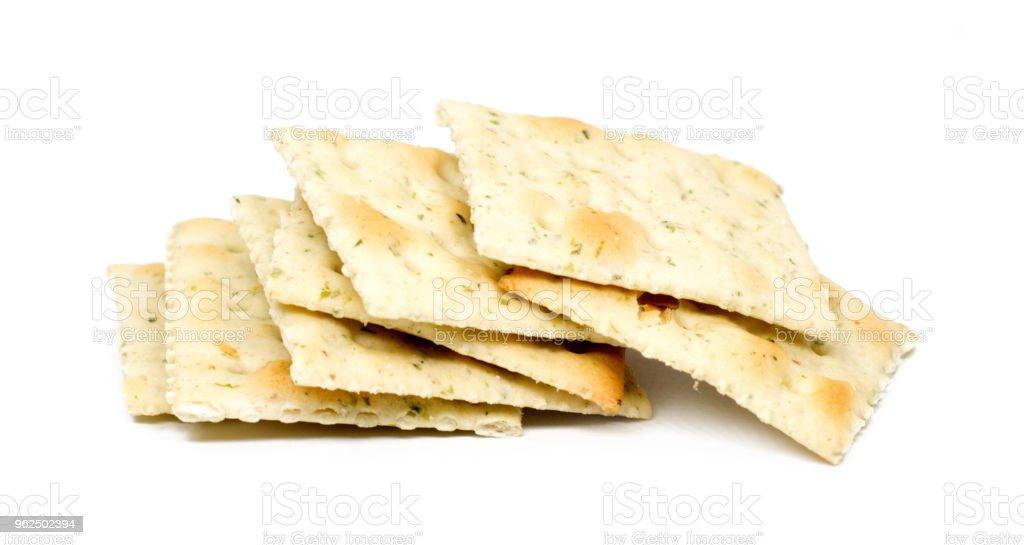 grupo de crackers isolado no branco - Foto de stock de Alimentação Saudável royalty-free