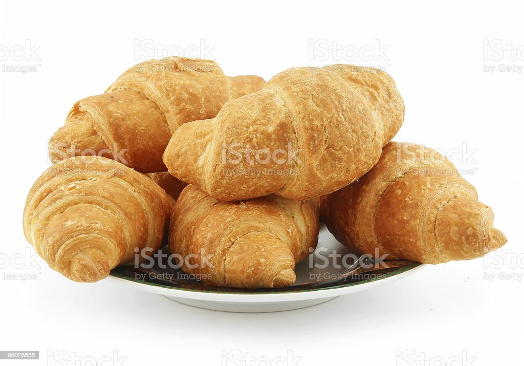 Group of Croissants Isolated on White royalty-free stock photo