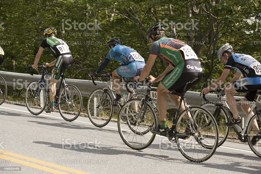 Group of Cycling Competitors stock photo