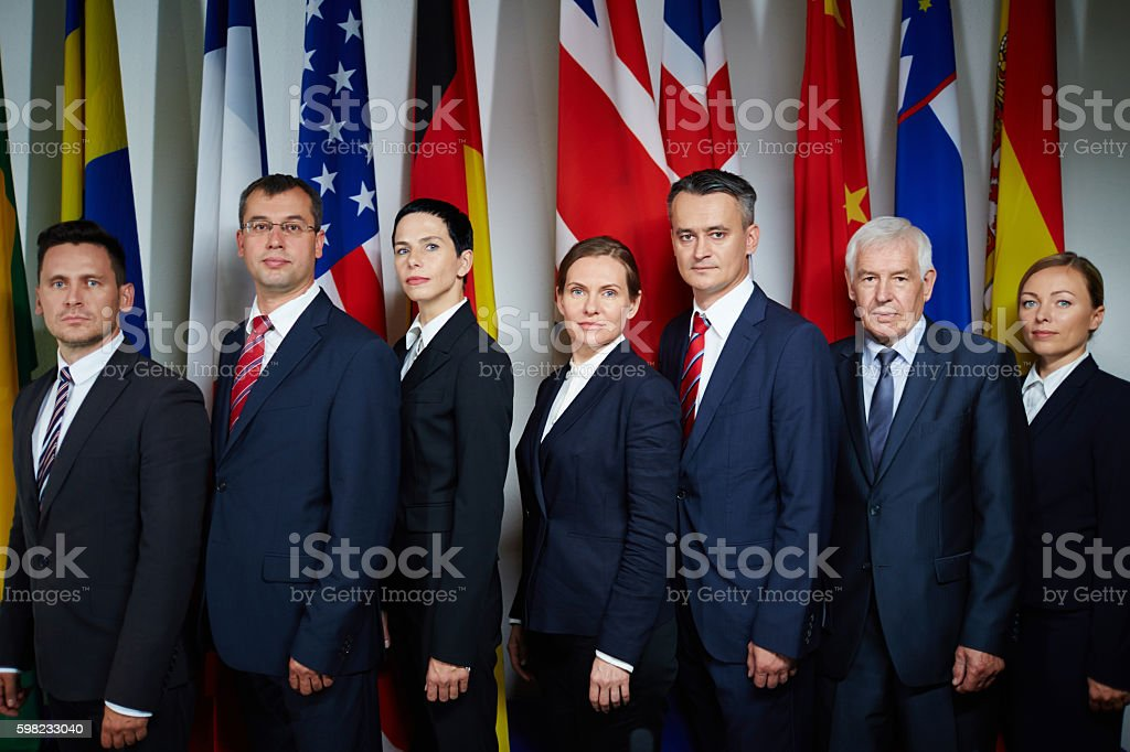 Group of delegates foto royalty-free