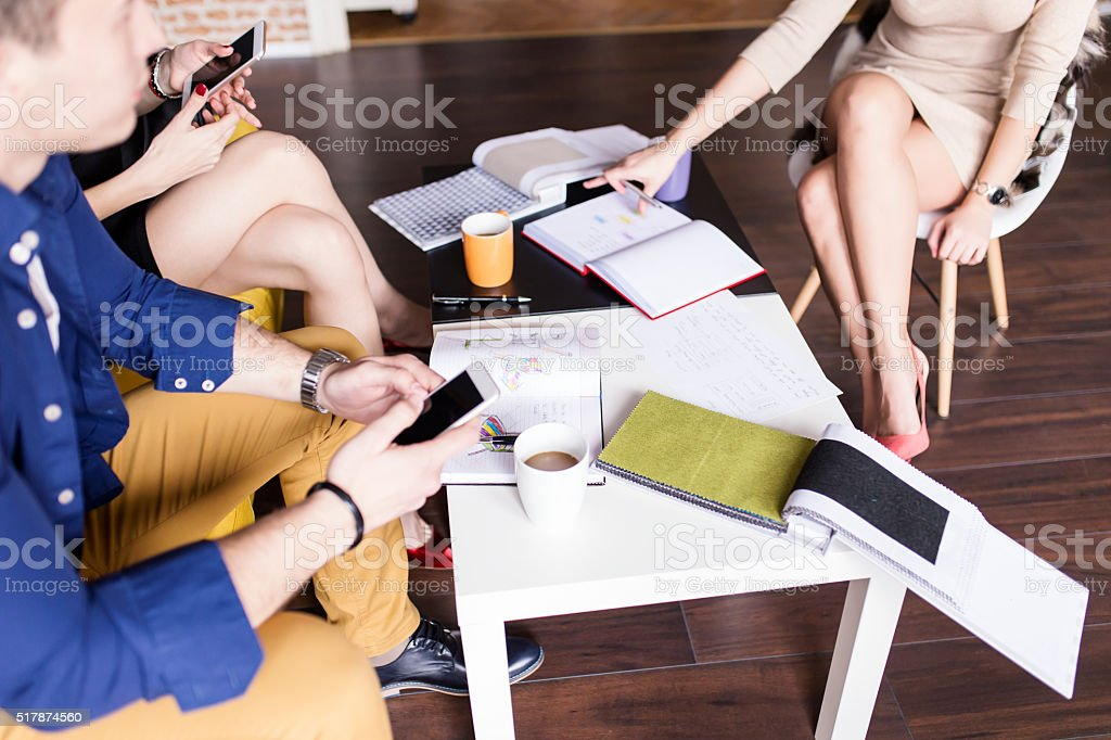 Group of Designers Brainstorming stock photo