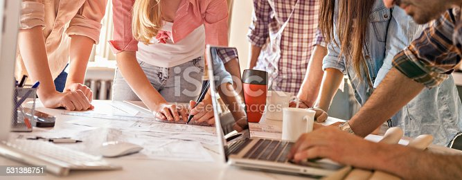 istock Group of designers working together 531386751