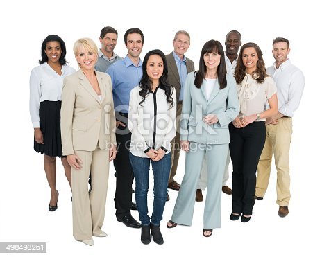 istock Group Of Diverse Businesspeople 498493251