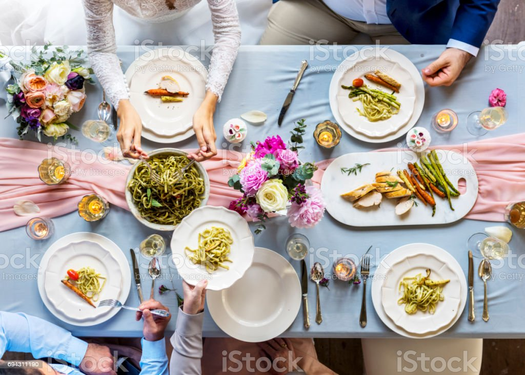 Group of Diverse Friends Gathering Having Food Together