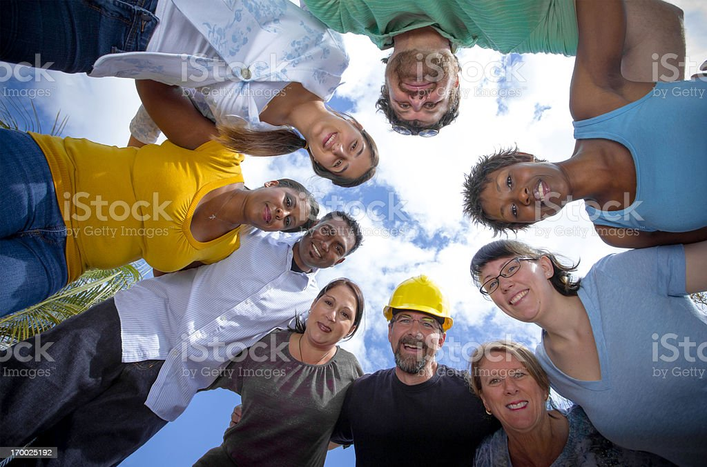 Group of Diverse Happy People royalty-free stock photo