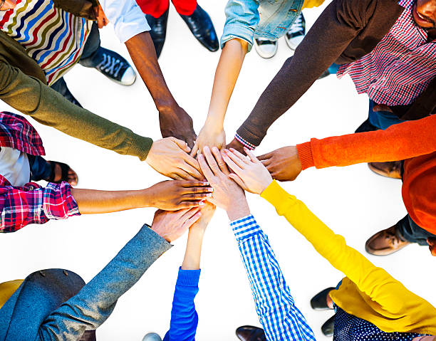 Group of Diverse Multiethnic People Teamwork Group of Diverse Multiethnic People Teamwork group therapy stock pictures, royalty-free photos & images