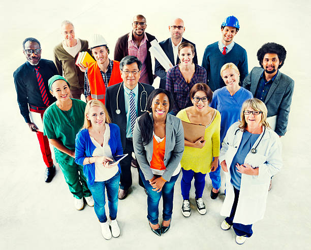 Group of Diverse Multiethnic People Various Jobs Concept Group of Diverse Multiethnic People Various Jobs Concept global village stock pictures, royalty-free photos & images