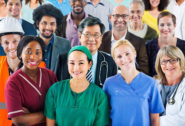 Groupe de personnes de diverses professions différents - Photo