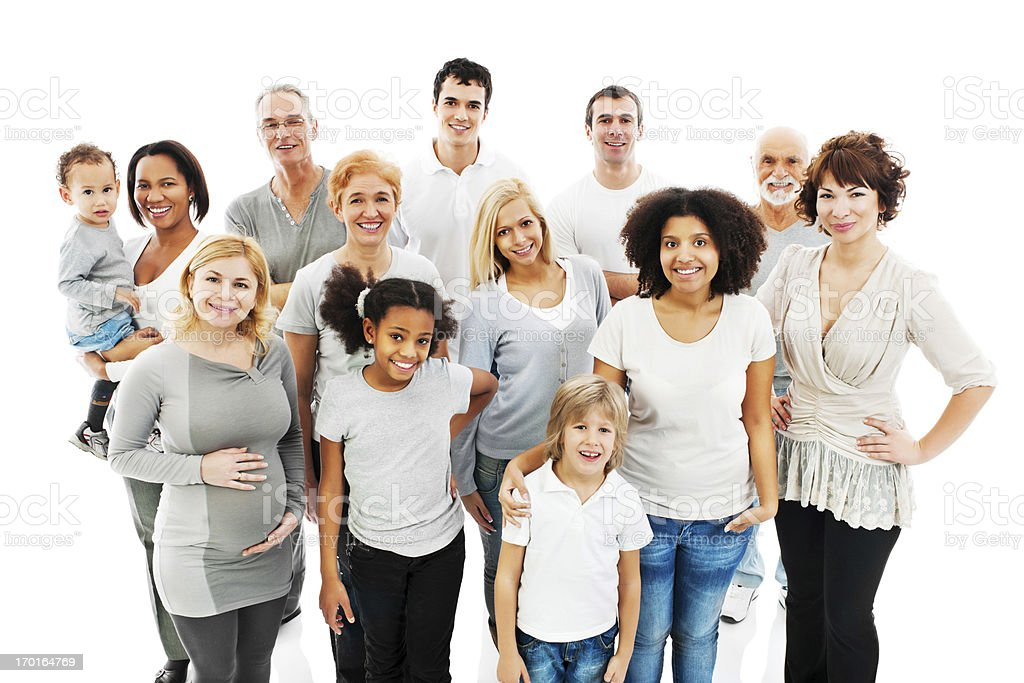 Group of Diversity People standing together. royalty-free stock photo