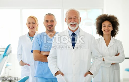 istock Group of doctors looking at the camera. 1070940818